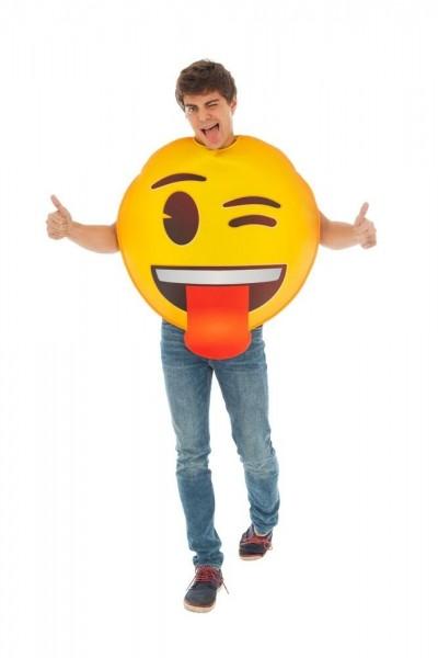 Zunge raus Emoji Kostüm Unisex