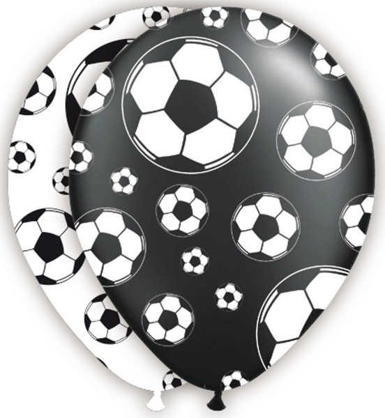 8 ballons en latex rêve de football