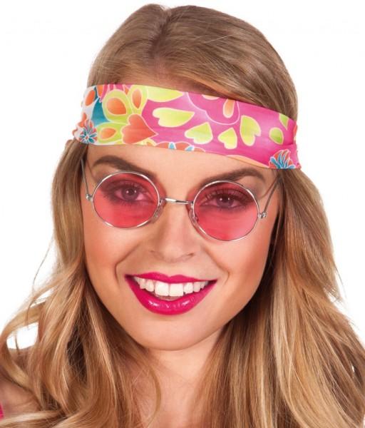 Occhiali hippie fucsia anni '70