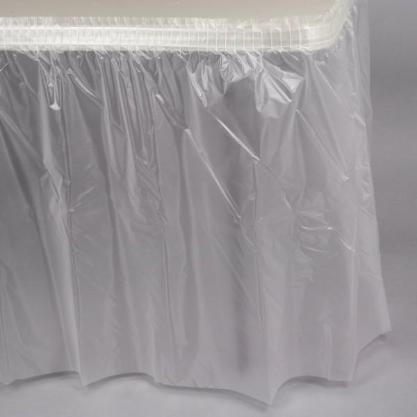 Tischschürze transparent 2,74 x 1,37m