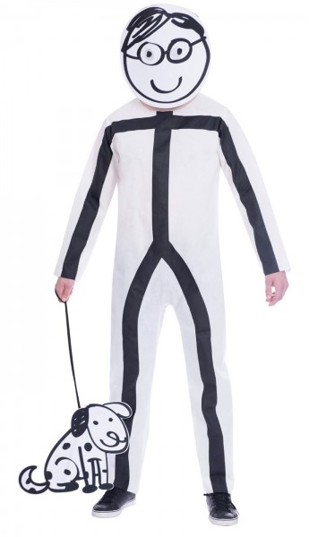 Stick figure men costume