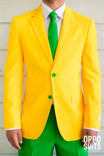 OppoSuits Green e Gold Party Suit