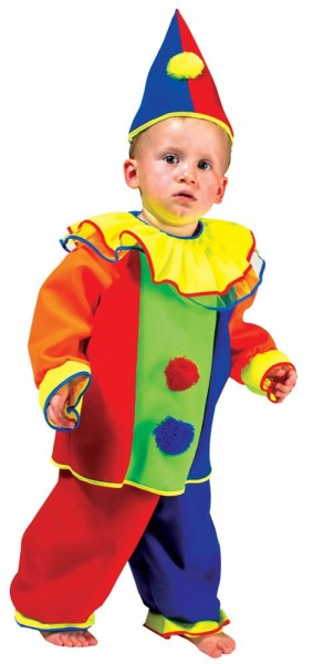 Déguisement enfant clown Augustin junior