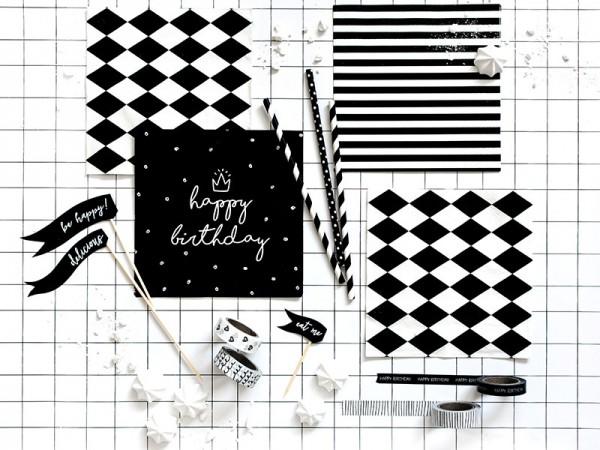 20 striped napkins 33 x 33cm