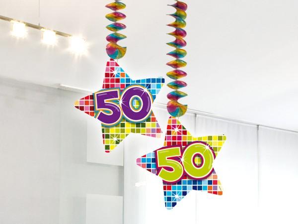 2 Bunte Hänger 50 Geburtstag 1