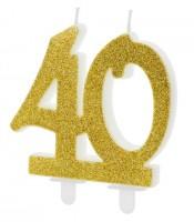 Glossy 40th Birthday Tortenkerze 7,5cm