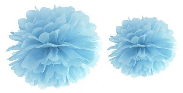 Pompon Romy bleu azur 25cm