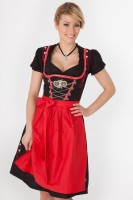 Midi Dirndl Marie schwarz-rot