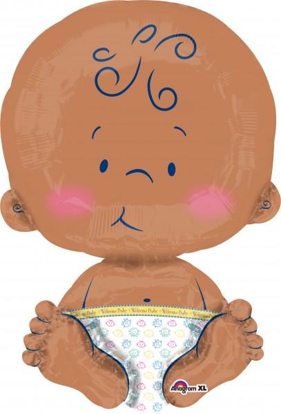 Globo de papel lindo bebé sentado XL