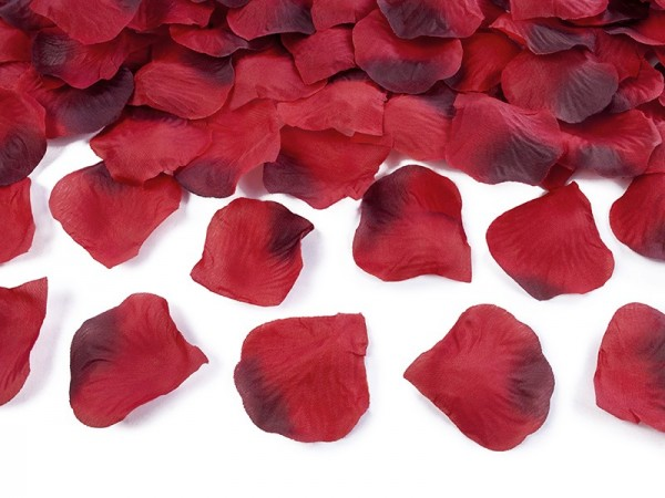 100 rose petals Amour wine red