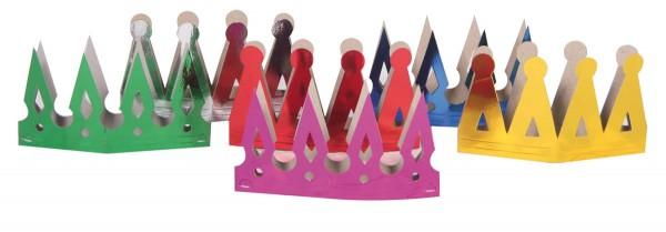6 corone di carta Compleanno per bambini colorato