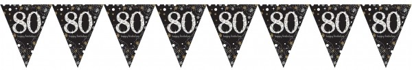 Sparkling 80th Birthday Pennant Necklace
