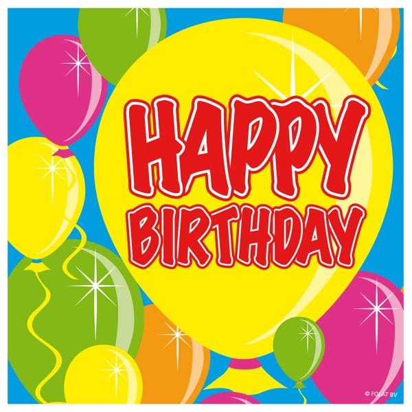 20 Servietten Balloon Birthday 25cm