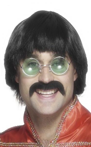 Perruque tête de champignon Herbert avec moustache