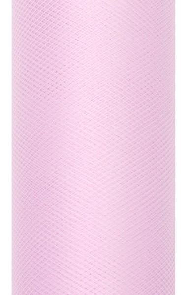 Tela de tul Luna bebé rosa 9m x 30cm