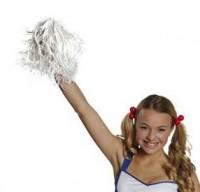 Weiße Cheerleader Pom Pom