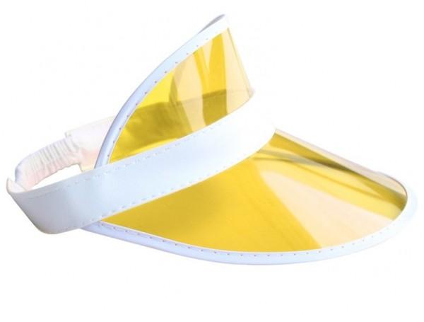 Visiera parasole gialla anni '80