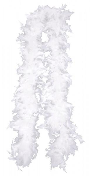 Boa di piume bianco Hollywood 1,8 m