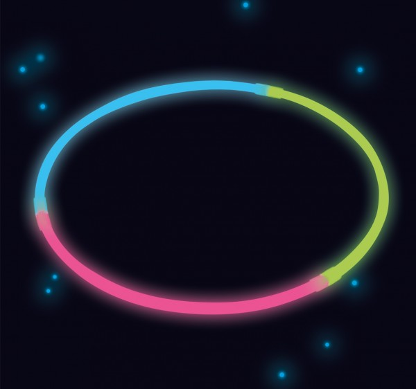 Power Glowstick 20cm Bunt 4er