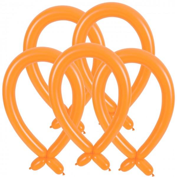 100 Orange Modellierballons 1,4m