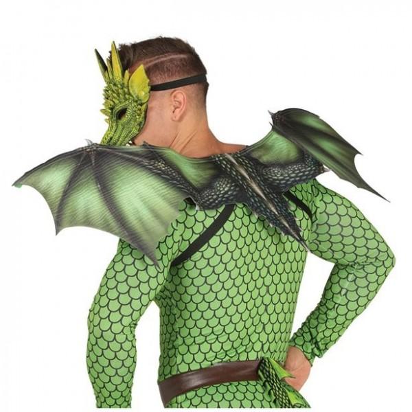 Grüne Drachenflügel 94cm