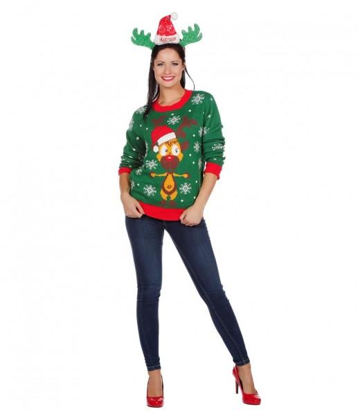 Rentier Rudolf Weihnachtspullover