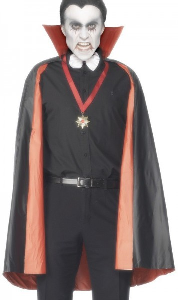 Vampire reversible cape PVC black red