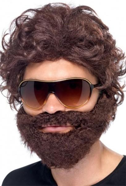 JGA peluca resaca barba y gafas de sol