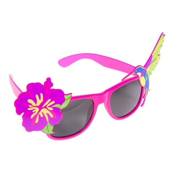 Partybrille Paradiesvogel lila