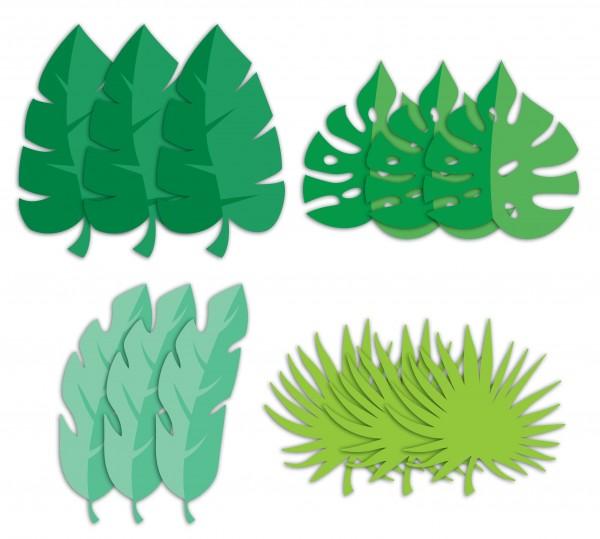 12 Safari Abenteuer Palmblatt Ausschnitte