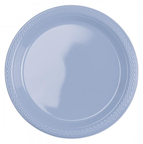 10 plastic borden pastelblauw 17cm