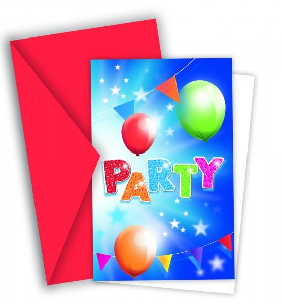 6 Fabulous Partytime Einladungskarten