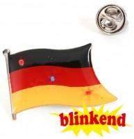 LED Deutschland Fan Brosche