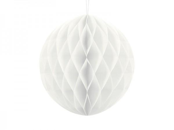 Dekorativer Wabenball in Weiß 30cm 1