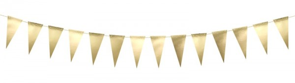 DIY Goldene metallic Wimpelkette 2,15m