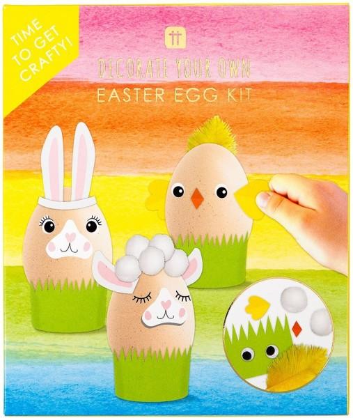 Ensemble de décoration d'oeufs de Pâques Joyeuses Pâques