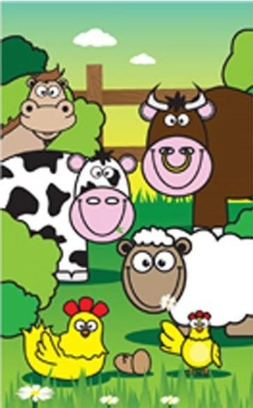Farm animals mini notebook 9.2 x 5.5cm