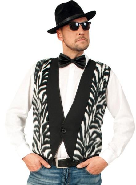 Männerweste Mit Zebra Muster