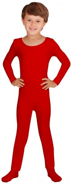 Body enfant manches longues rouge