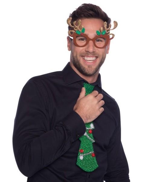 Reno de gafas de Navidad