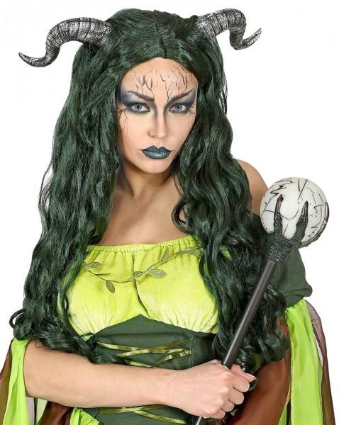 Perruque de créatures de la forêt avec des cornes pour femme