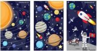 1 Mini-Notizbuch Weltraum