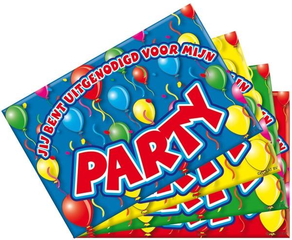 8 Party Surprise Einladungskarten
