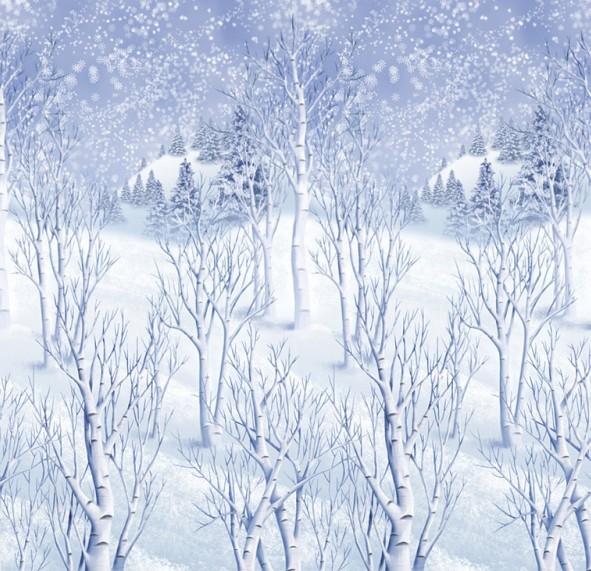 Winter landscape wall backdrop 12.1 x 1.2m