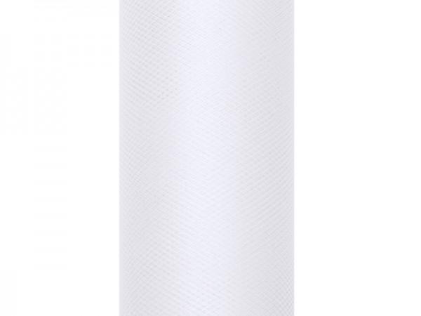 Tüll Stoff Luna weiß 9m x 15cm
