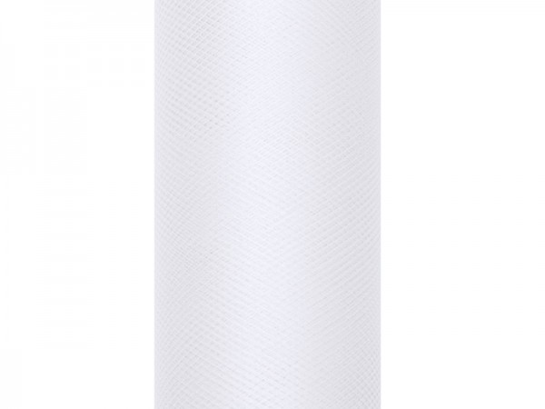 Tissu tulle Luna blanc 9m x 15cm
