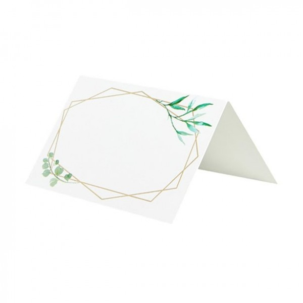10 geometric wedding place cards