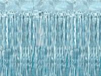 Vorschau: Lametta Vorhang babyblau 2,5m x 90cm