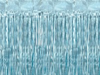 Lametta Vorhang babyblau 2,5m x 90cm