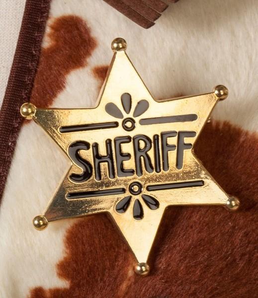 Goldenes Sheriff Stern Abzeichen